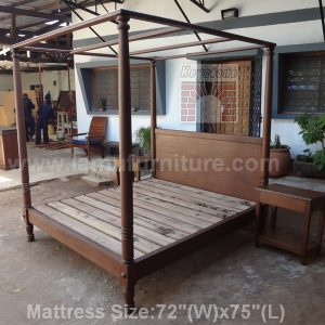 David Double Poster Bed 1a